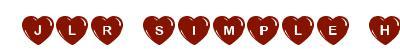 Police d'ecriture ttf JLR Simple Hearts