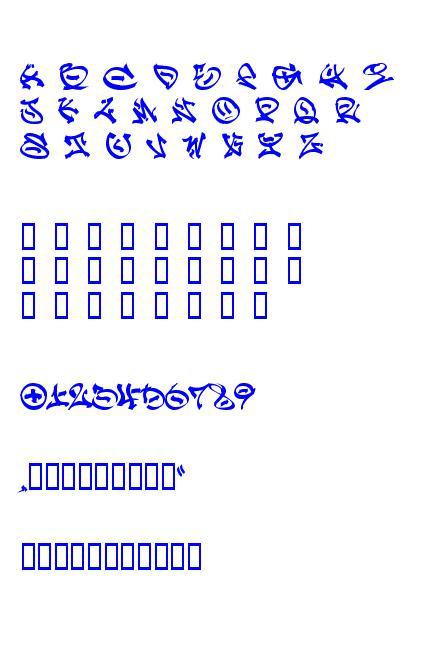 Graffpity caracteres de la police ttf