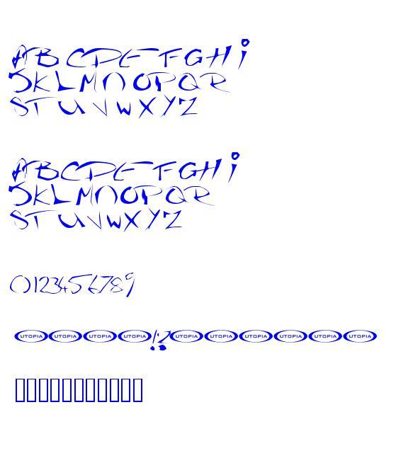 The Guru Font caracteres de la police ttf