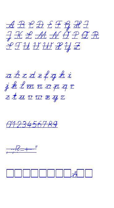 LA El2 Schulschriften caracteres de la police ttf