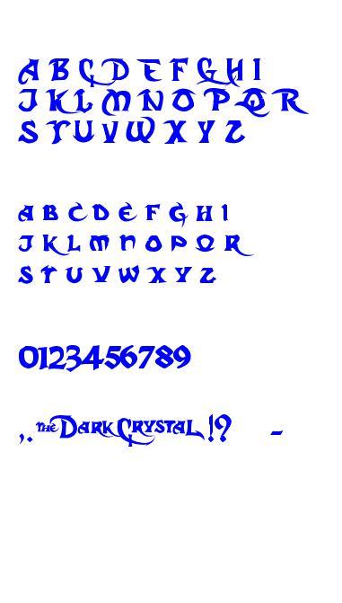 Dark Crystal Script caracteres de la police ttf