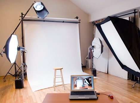 Amateur photography studio