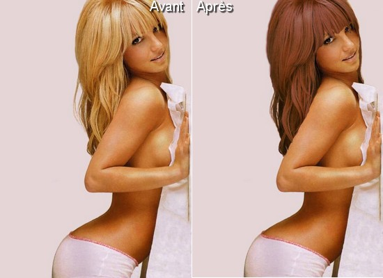 Avant Aprs Changer La Couleur Des Cheveux Tutoriel Photoshop