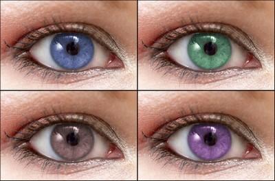 Avant Après Changer la couleur des yeux Tutoriel Photoshop