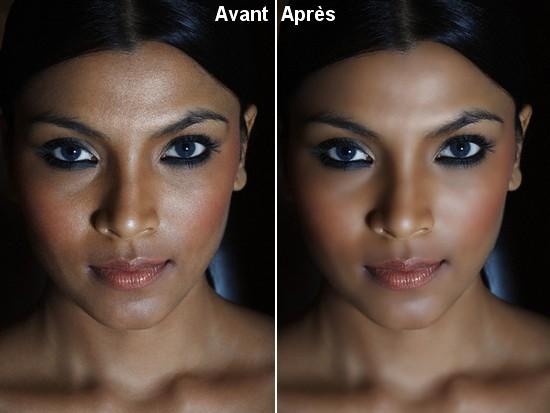 Avant Après Embellir un visage Tutoriel Photoshop
