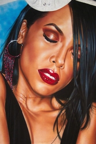 Photo tee shirt aaliyah Airbrush