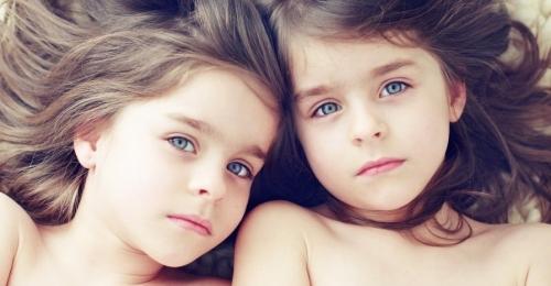 Photo enfants jumelles Enfant