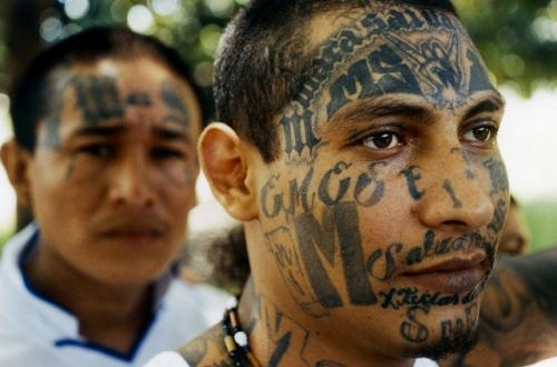 Photo tatouage visage ms13 Gang