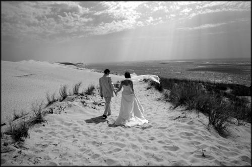 Photo photo de mariage noir et b Mariages