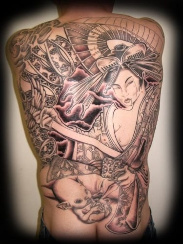 Photo Geisha Tatouage